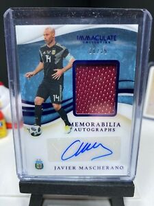 2020 Immaculate Soccer JAVIER MASCHERANO Match Worn Patch Autograph 21/25 AUTO