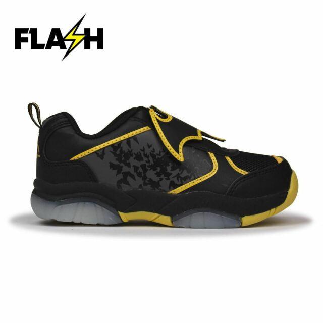 Batman Light Up Flash Trainers Black