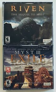 Riven: The Sequel to Myst. Myst III: Exile (Windows/Mac, 2000,2001) Vintage PC