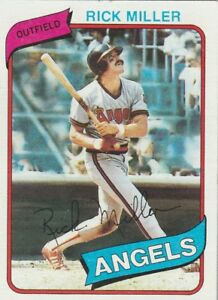 FREE-SHIPPING-MINT-1980-TOPPS-48-RICK-MILLER-ANGELS-FACSIMILE-AUTOGRAPH