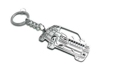 Keychain fit Jeep Grand Cherokee SRT8 Car Design Steel Keyring Porte-Clés Metal