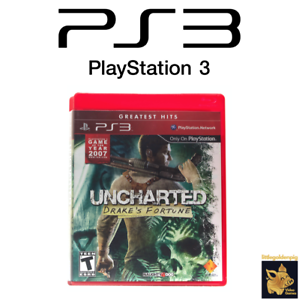 Uncharted-Drake-039-s-Fortune-2007-Playstation-3-Game-Case-amp-Manual-Tested-Works