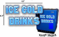 12 ice Cold Blue Horizontal Coca Cola Pepsi Cooler Pop Machine
