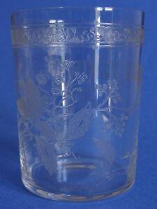 1 Ancien Verre Eau Vin Souvenir Cristal Baccarat Modele Trefle Florale Ht 9 Cm Parfait Dans L'ExéCution