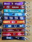 NFL Wristlet Short Lanyard Keychain TEAM COLOR ( ALL TEAMS ) Official Licensed