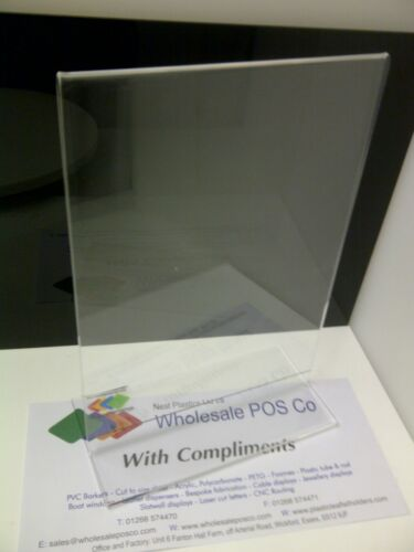 A5 DOUBLE SIDED ACRYLIC CLEAR PERSPEX MENU HOLDERS UPRIGHT POSTER DISPLAY