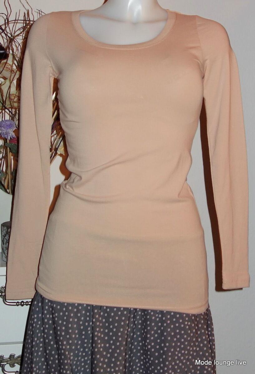 NOA NOA Shirt Basic Jersey Stretch cotton M 38 cinnabar Orange Baumwolle