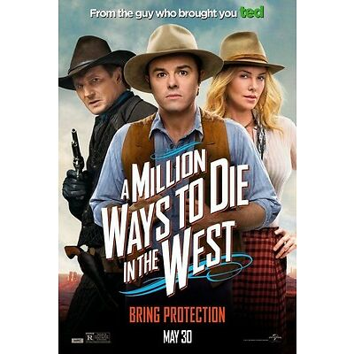 A Million Ways To Die In The West DOUBLE SIDED ORIGINAL MOVIE POSTER One Sheet
