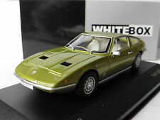 MASERATI INDY 1971 GREEN OLIVE METAL WHITEBOX WB084 1/43 VERT GRUN METALLIC
