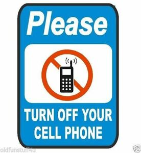 Please Turn Off Cell Phone Safety Business Sign Decal