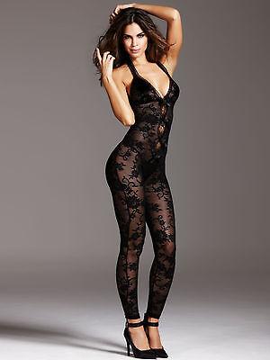 Ann Summers Womens Alisha Bodystocking Black Ladies Sexy Nightwear Bodysuit New