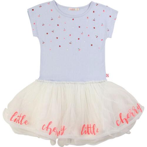 "Billieblush Fille Robe /""little Cherry/"" u12554 BLEU CIEL robe tulle NEUF"