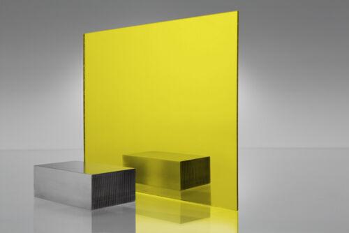 "1//8/"" x 24/"" x 24"" Sheet #2208 Acrylic Yellow Transparent Plexiglass .125/"""
