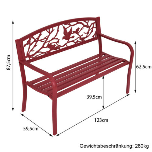 Gartenbank Parkbank Eisenbank Sitzbank Bank Gartenmöbel Stahlrahmen Gusseisen