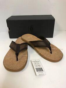 4762cb8b0a6 Ugg Men's Seaside Flip Flop Chestnut Leather Sandals-New | eBay