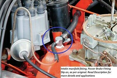 64-66 Chevelle Intake Manifold Vacuum Fitting, Power Brake ...