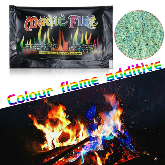 Mystical Fire Magic Tricks Colorful Flame Powder Bonfire Camp Fire Games Toy