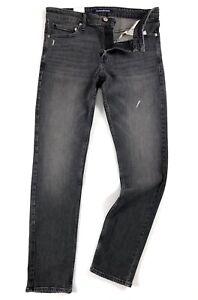 Calvin-Klein-Jeans-Men-039-s-Slim-Fit-Pioneer-Black-CKJ026-Stretch-Ripped