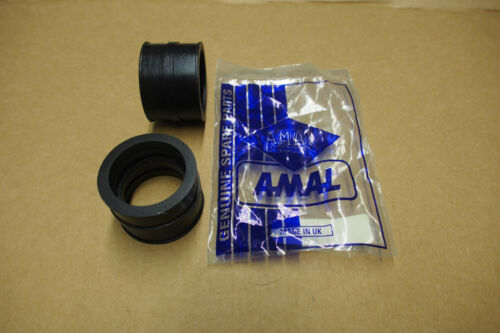 PAIR GENUINE AMAL MK 2 CONCENTRIC CARB MOUNTING RUBBERS TRIUMPH T140 ETC