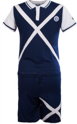 Children/'s Scotland Football Kit With Saltire Design In Navy Size 5-6 Years