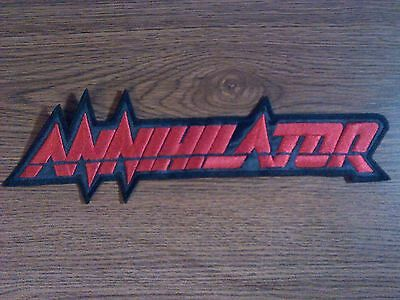ANNIHILATOR,SEW ON RED EMBROIDERED LARGE BACK PATCH