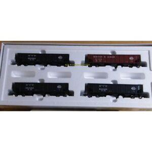 Maerklin-45801-H0-AC-4er-Set-US-Hopper-Car-der-034-NYC-Railroad-034-OVP