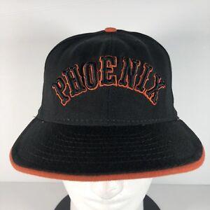 34675072d2fcc4 New Era PHOENIX SUNS Men's NBA Fitted Hat Baseball Cap Black Orange ...