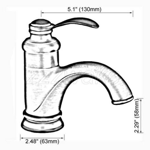 Oil Rubbed Bronze Bathroom Basin Faucet Single Handle Hole Sink Mixer Tap Znf065