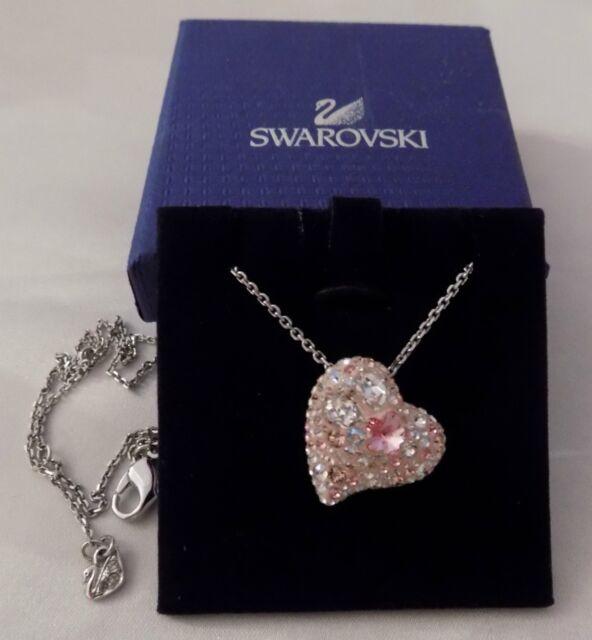 c5926c80f SWAROVSKI Pink Crystal ALANA HEART 1062588 Pendant Necklace RARE RETIRED  MINT