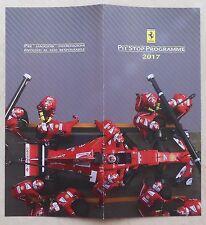 Ferrari Faltblatt Pit Stop Programme 2017 Folder no brochure book depliant press