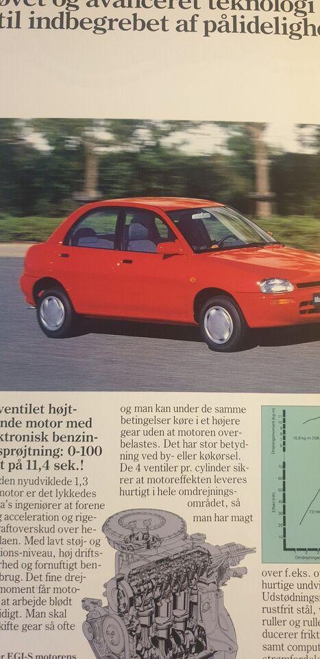 Brochure, Mazda 121