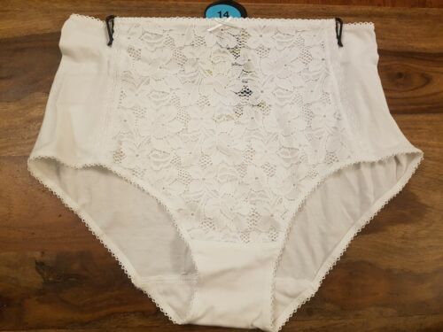 Knickers M/&S CollectionCotton Rich Front Lace Full Briefs Knickers Size 14