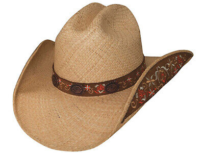 Bullhide Desert Gold Straw Western Hat with Contrast Striping 2581