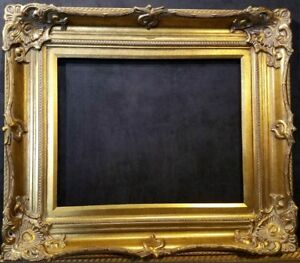 """5"""" Antique Gold Leaf Ornate photo Oil Painting Wood Picture Frame 801G 30x40"""