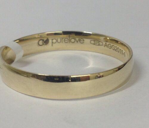 R X Amor puro oro 9ct D Forma Anillo De Bodas Anillo 4mm 2.2g caracteriza Q Y