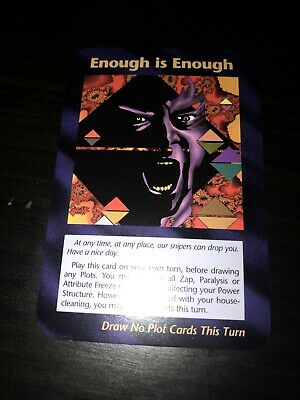 "ILLUMINATI CARDS ""New World Order"" 1x Enough is Enough Donald Trump MINT"