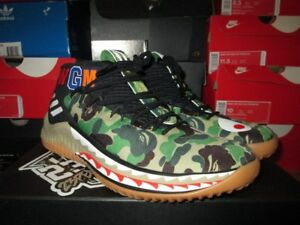 buy popular d40a4 d34cb Image is loading NEW-2018-ADIDAS-DAME-4-IV-BAPE-GREEN-