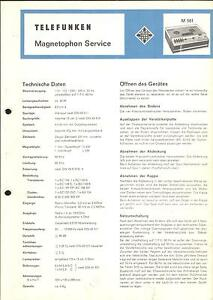 Tv, Video & Audio Telefunken Service Manual Für M 501