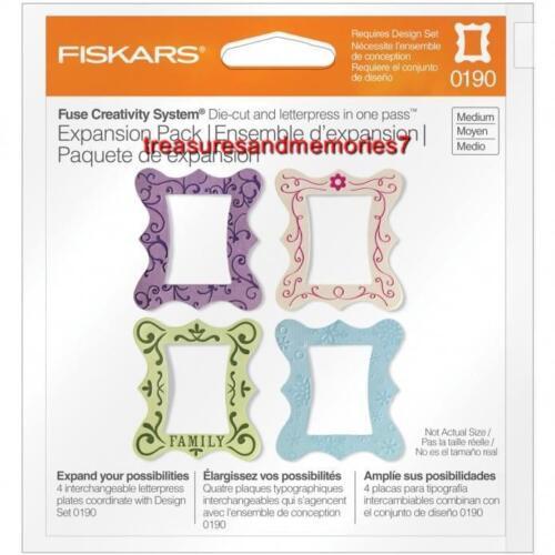 Fiskars Fuse Creativity Expansion Pack FRAME Die Cut /& Letterpress100970
