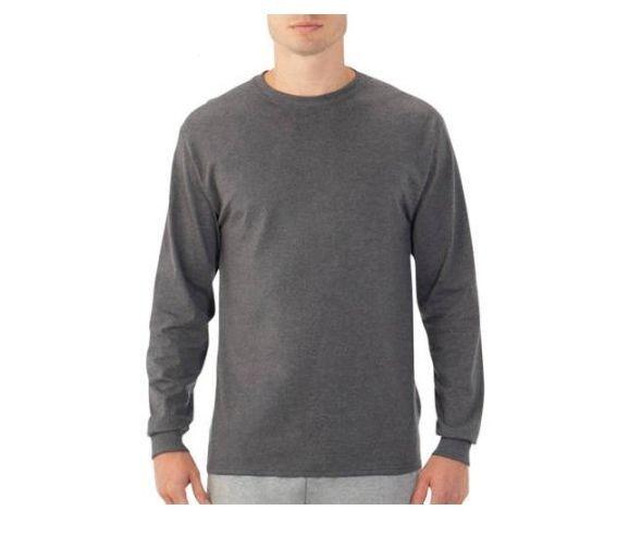 Men/'s T Shirt Long Sleeve FRUIT OF THE LOOM T Shirt Crew Neck T Shirt SS069