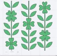 Stencil Shamrocks Irish Lucky Art Paint Quilt 73