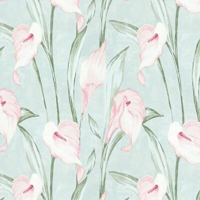 * FREE DELIVERY * Same Batch Laura Ashley Harewood Duck Egg Wallpaper