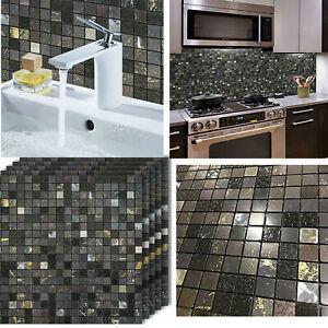 12x12 Peel And Stick Tile Backsplash Self Adhesive For Bathroom Kitchen Wall Ebay