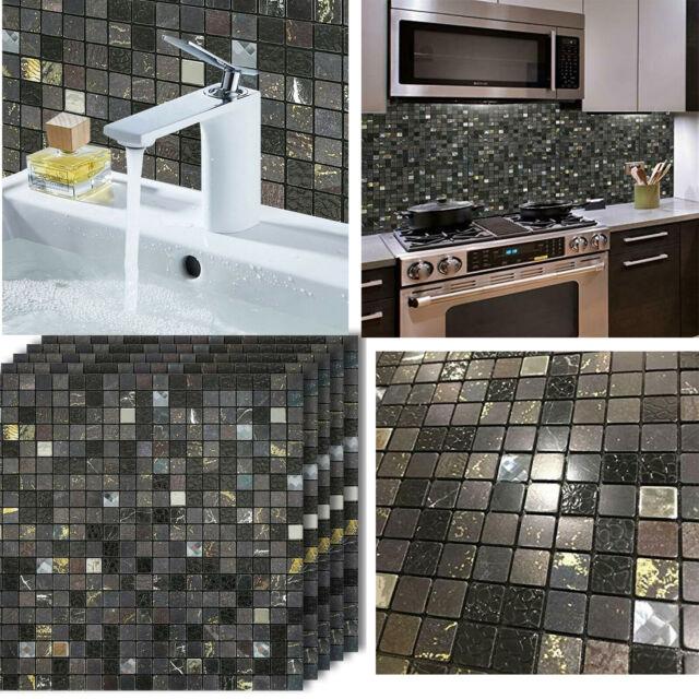 5x12 X12 Peel And Stick Backsplash Tile 3d Wall Vinyl Tiles For Kitchen Decor For Sale Online Ebay