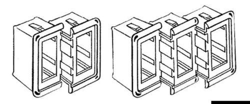 Cornice plastica destra//sinistra neraMarca Osculati14.197.02