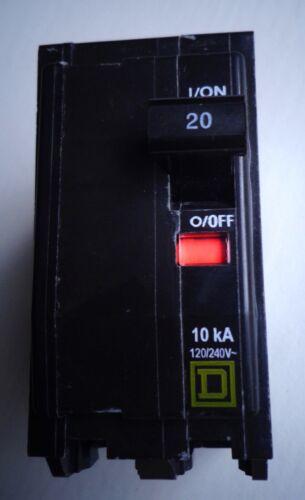 2P Square D QOB220 20A 120//240 VAC Circuit Breaker NEW!!!