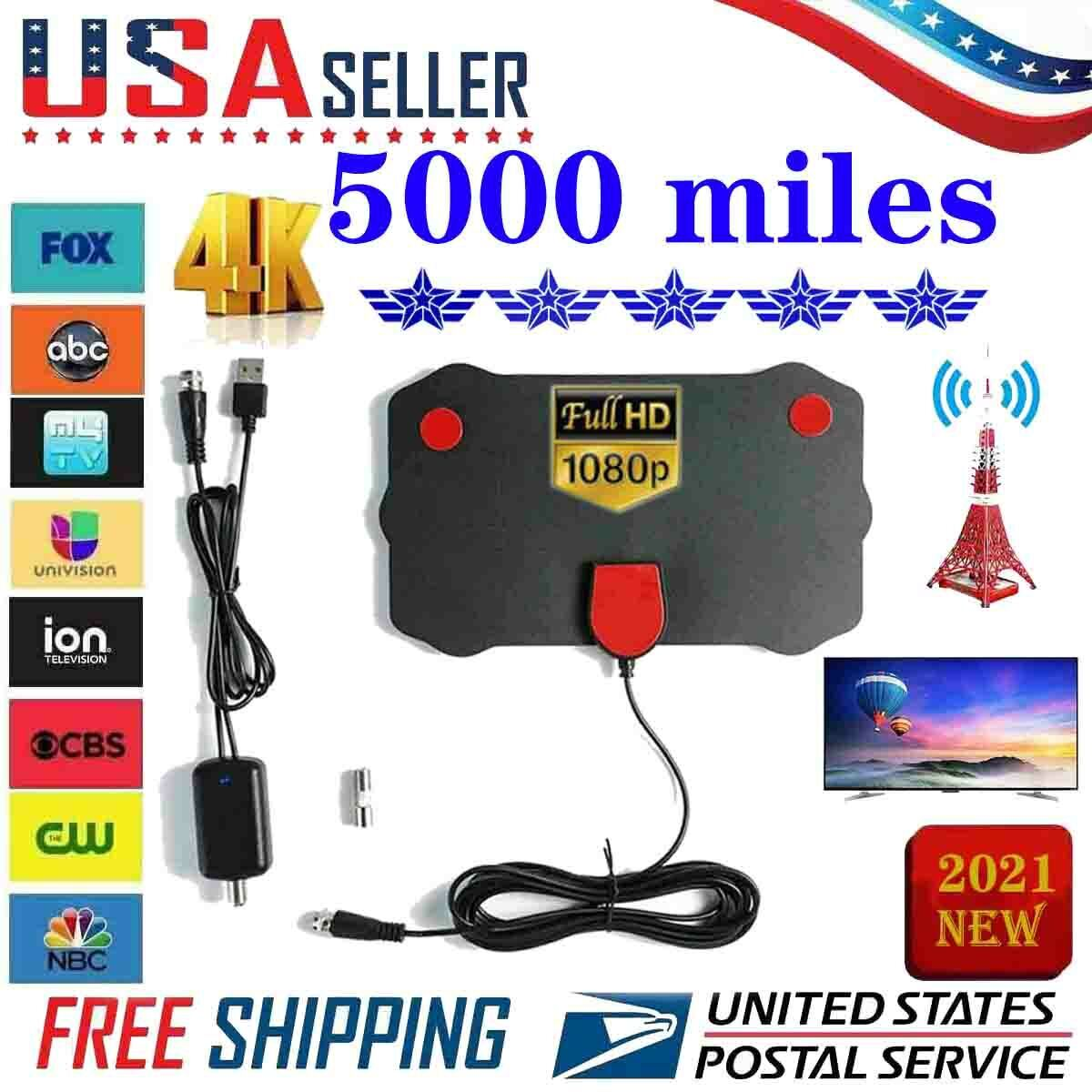 In 2021, the latest 5000-mile clear indoor digital TV HD TV antenna. Available Now for 10.00
