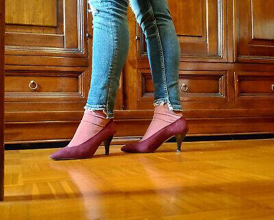 Scarpe Cinti decolleté, tacco, camoscio, rosso borgogna, donna, 38 | eBay