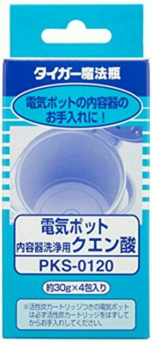 Tiger PKS-01201 Citric Acid for cleaning scale of electric kettle 30g × 4