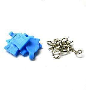 HY00148LB-1-16-1-10-Small-Argento-Clip-Corpo-R-Pin-x-4-GOMMA-Azzurro